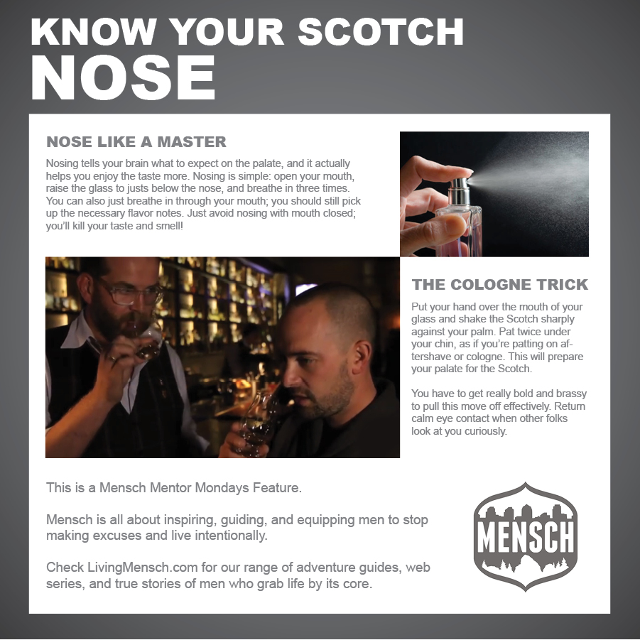 How to nose scotch.